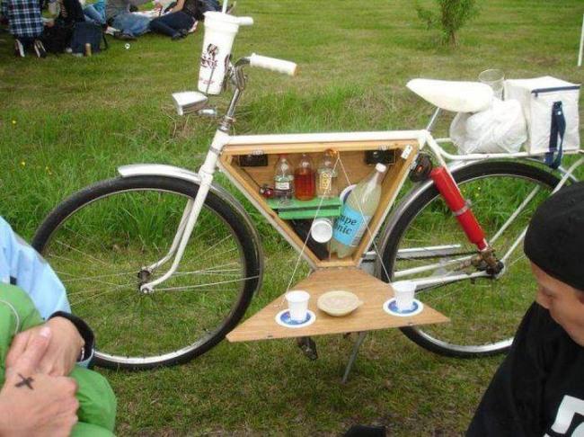 Фото прикол  про велосипед та алкоглоль