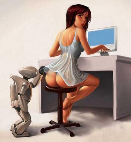 Малюнок  про роботів, сідниці вульгарний