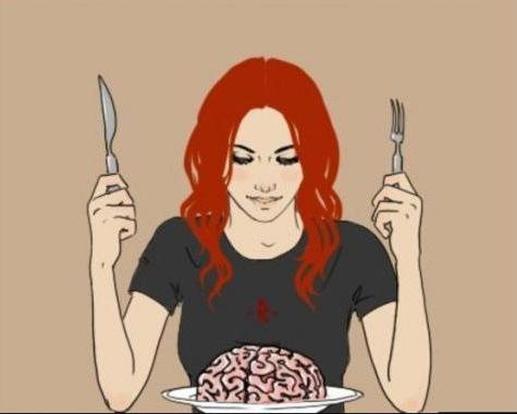Малюнок  про жінок та мозок