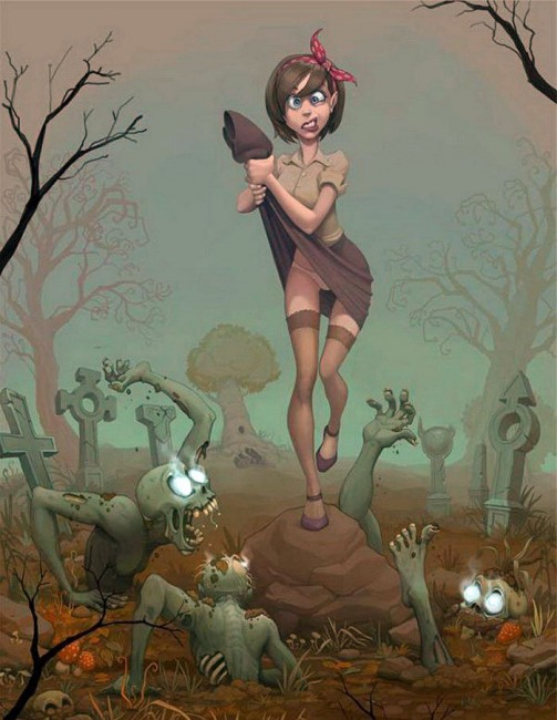 Малюнок  про кладовище, чорний вульгарний