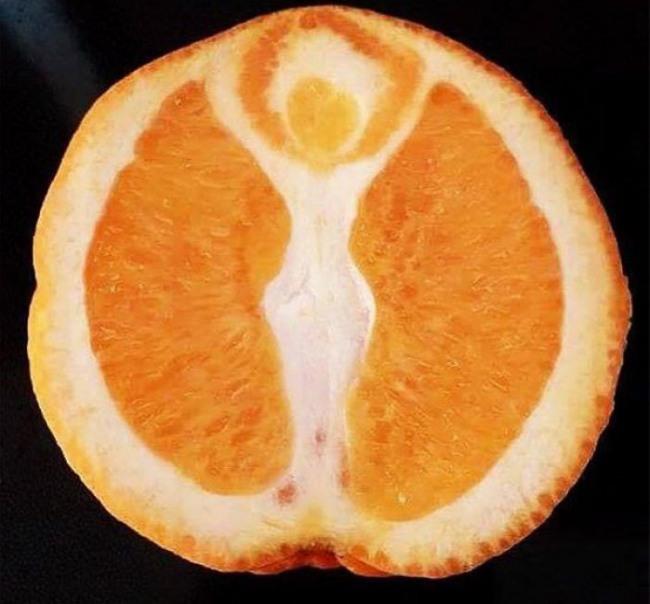Фото прикол  про апельсини