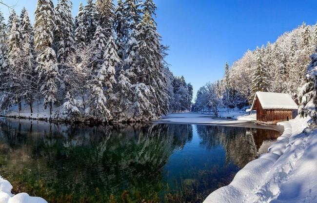 Фото прикол  про зиму та озеро