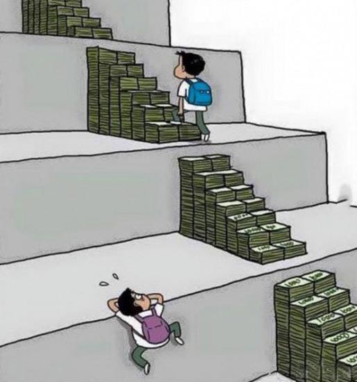 Малюнок  про освіту та гроші