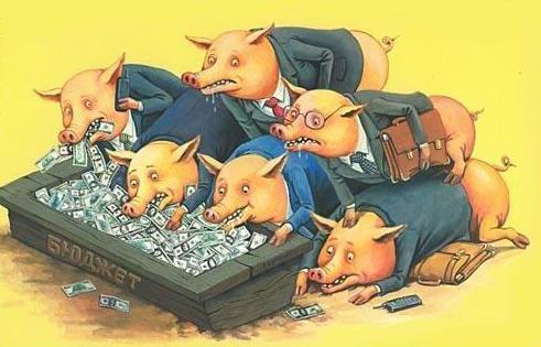 Малюнок  про уряд та свиней
