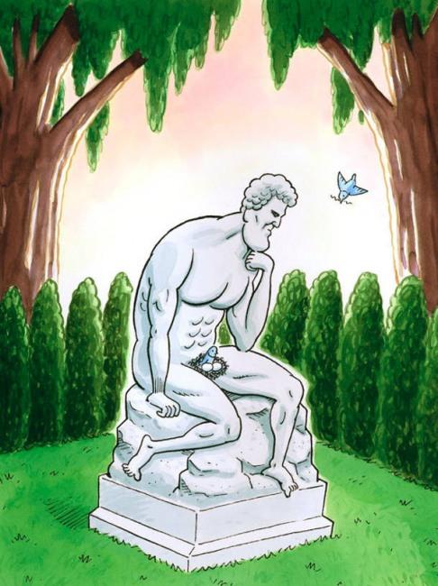 Малюнок  про пам'ятник, яйця та птахів
