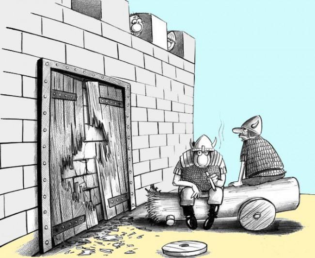 Малюнок  про замок та ворота