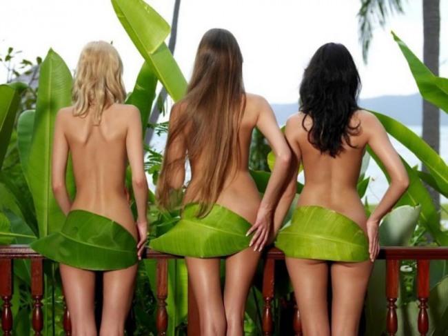 Фото прикол  про дівчат та роздягнених людей