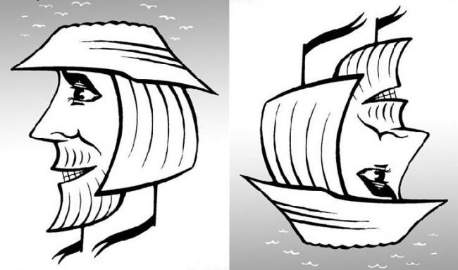 Малюнок  про обличчя та кораблі