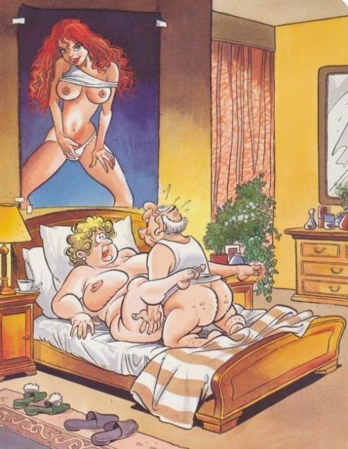 Малюнок  про секс, чоловіка, дружину, інтимний вульгарний