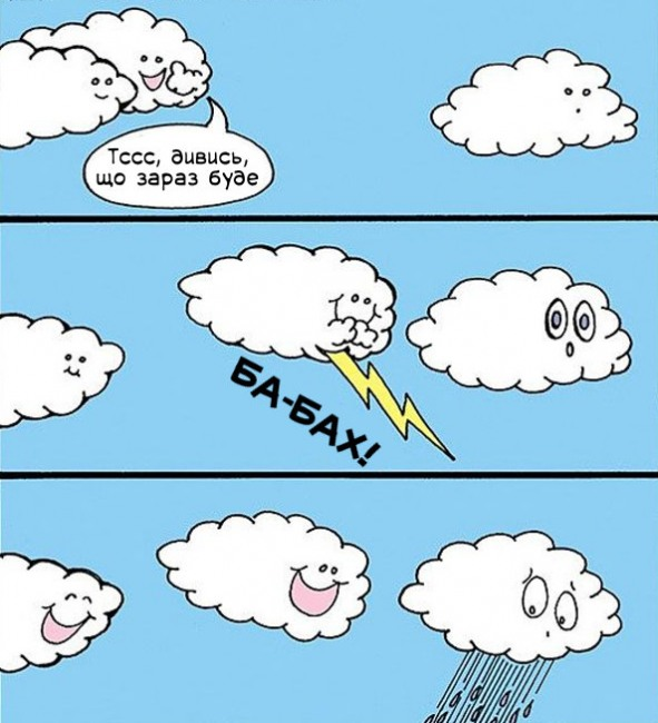 Малюнок  про хмари