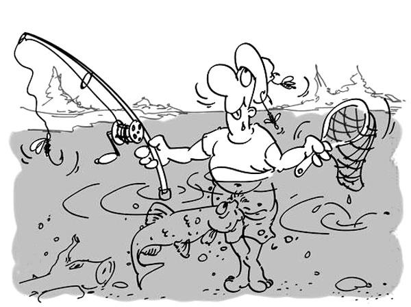 Малюнок  про риболовлю вульгарний