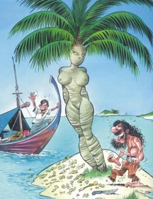 Малюнок  про безлюдний острів вульгарний