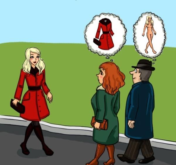 Малюнок  про чоловіків, жінок вульгарний