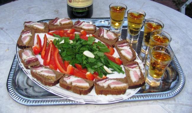 Фото прикол  про сало, їжу та алкоглоль