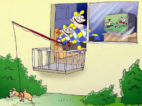 Малюнок  про футбол та собак