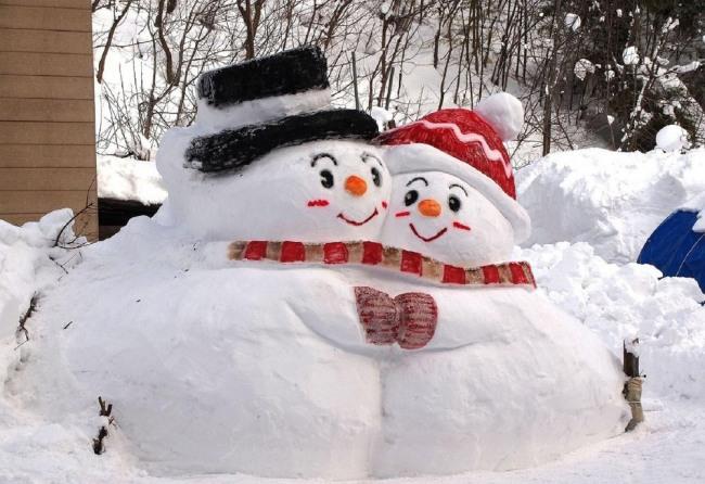 Фото прикол  про сніговика