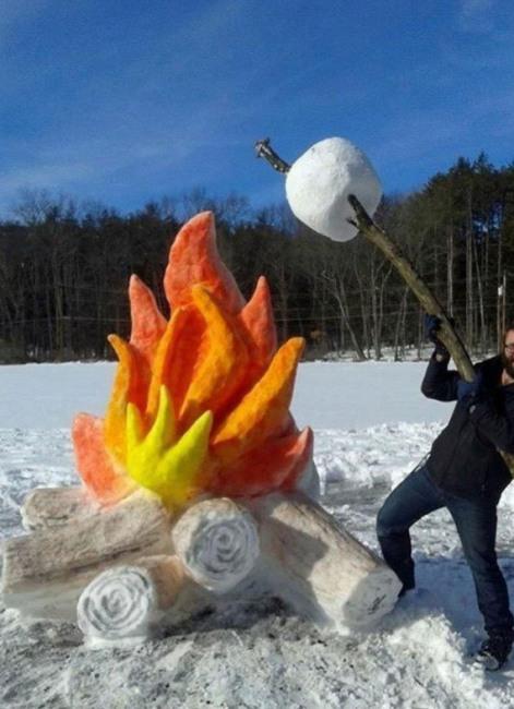 Фото прикол  про сніг та вогонь