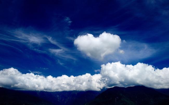 Фото прикол  про хмари та валентинку