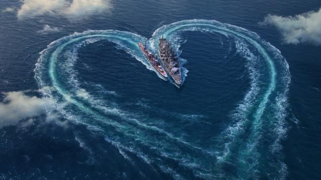 Фото прикол  про кораблі та валентинку