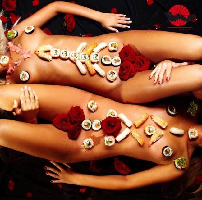 Фото прикол  про суші вульгарний