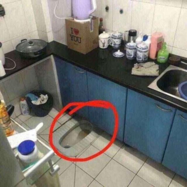 Фото прикол  про кухню та туалет