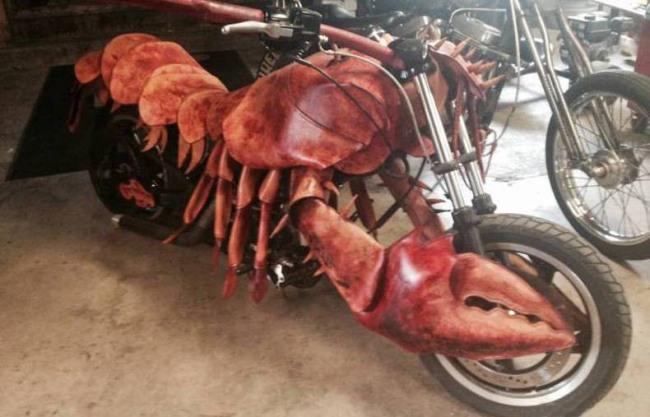 Фото прикол  про омарів та мотоцикл