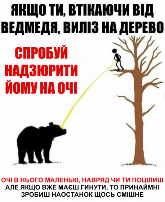 Малюнок  про ведмедів та сечовипускання