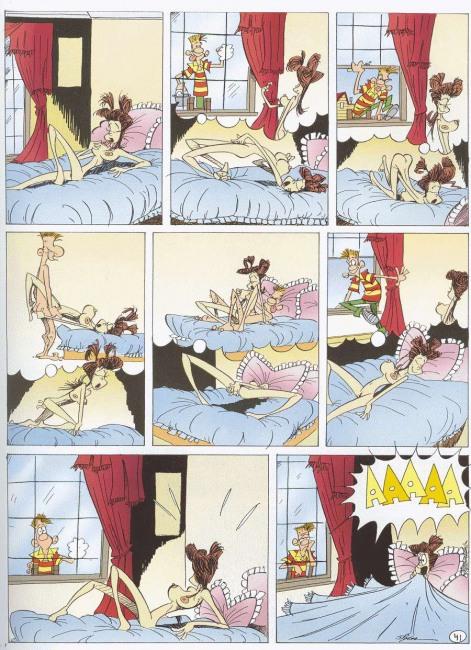 Малюнок  про секс, сон, мастурбацію, вульгарний комікс