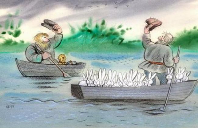 Малюнок  про діда мазая та герасима