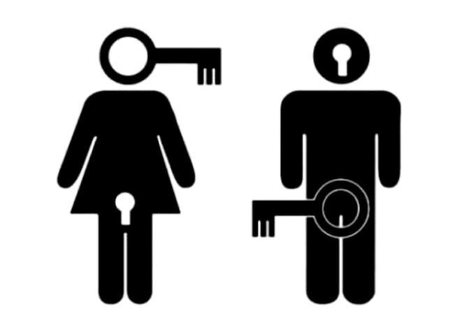 Малюнок  про чоловіків, жінок та ключ