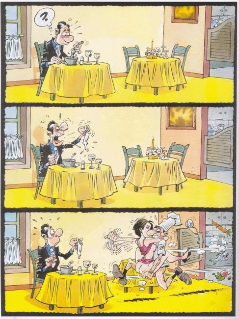 Малюнок  про ресторан, гумові нацюцюрники, кухарів вульгарний