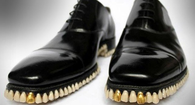 Фото прикол  про взуття та зуби