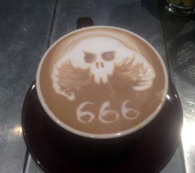 Фото прикол  про каву чорний