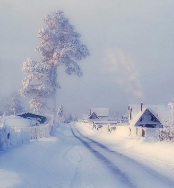 Фото прикол  про холод, зиму та село