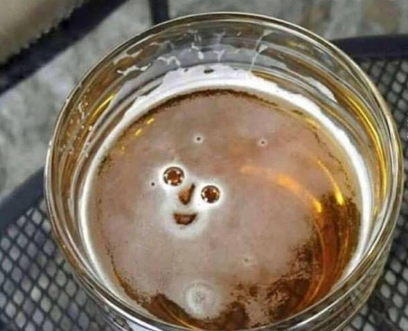 Фото прикол  про пиво та усмішку