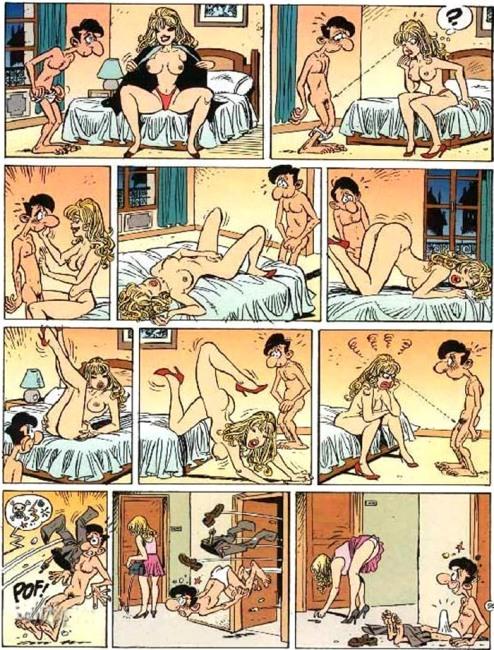 Малюнок  про ерекцію, вульгарний комікс