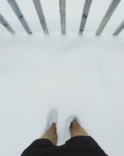 Фото прикол  про сніг та ноги