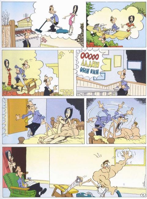Малюнок  про секс, подружню невірність, вульгарний комікс