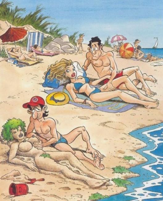 Малюнок  про пляж вульгарний