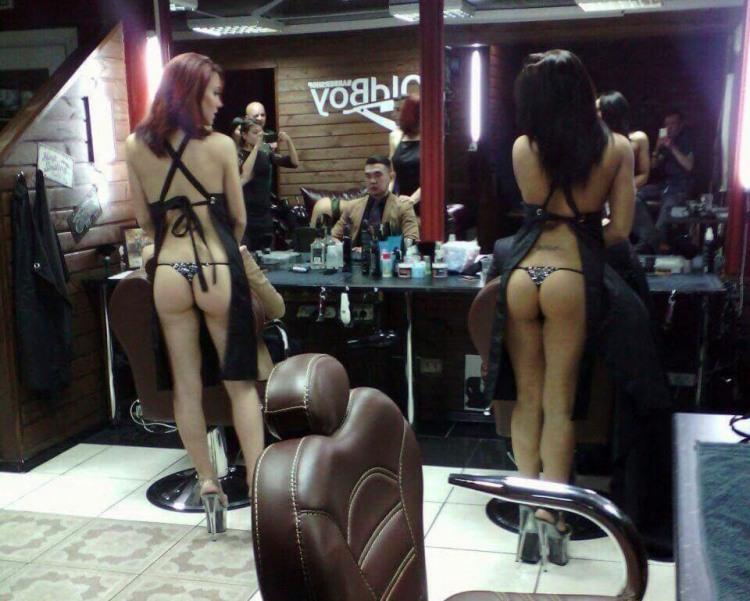 Фото прикол  про перукаря та сідниці