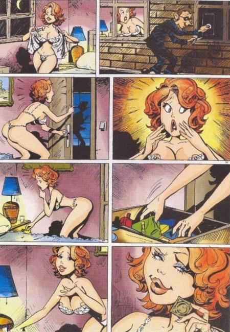 Малюнок  про пограбування, гумові нацюцюрники, комікс вульгарний