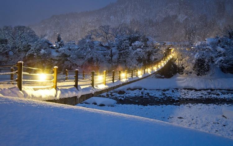 Фото прикол  про міст та зиму