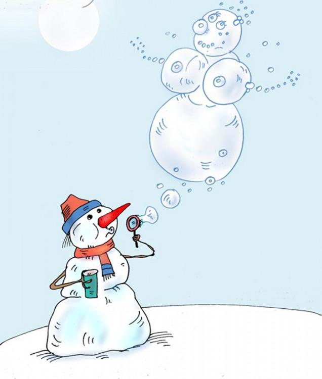 Малюнок  про сніговика вульгарний
