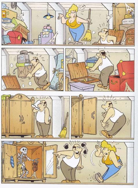 Малюнок  про прибирання та скелет