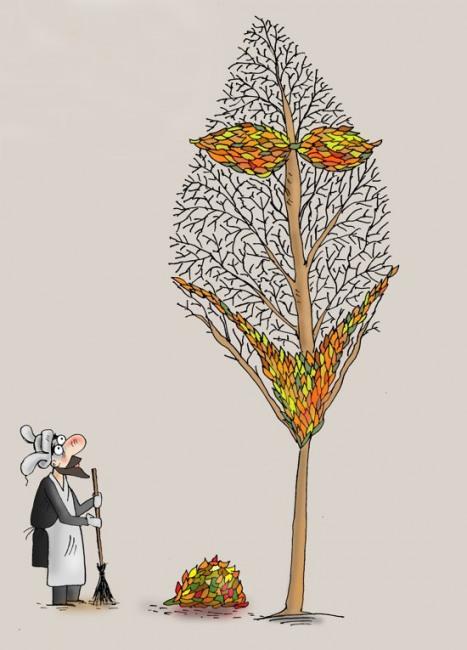 Малюнок  про листя гра уяви