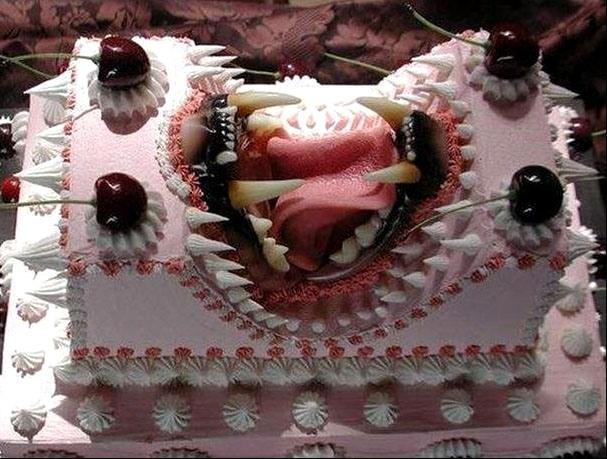 Фото прикол  про торт та зуби
