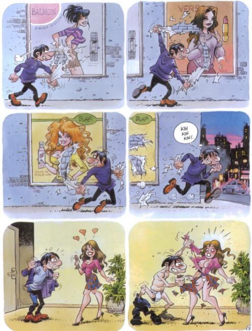 Малюнок  про роздягання, вульгарний комікс