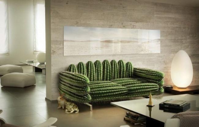 Фото прикол  про диван та кактус