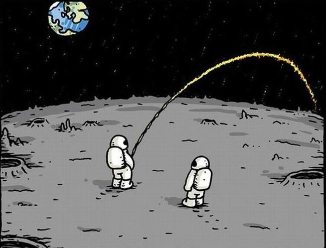 Малюнок  про космонавтів та сечовипускання