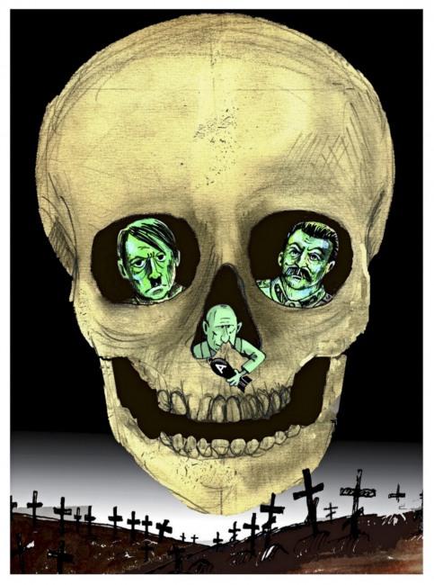 Малюнок  про череп та москалів